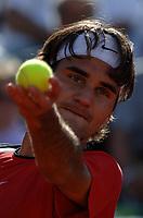 Tennis<br /> Foto: Dppi/Digitalsport<br /> NORWAY ONLY<br /> <br /> ROLAND GARROS 2005<br /> <br /> ROGER FEDERER (SUI)
