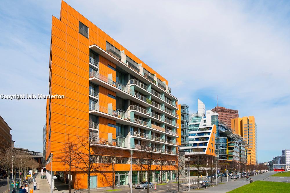Modern office buildings at Potsdamer Platz in Berlin, Germany