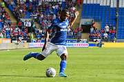 Junior Hoilett (33) of Cardiff City during the EFL Sky Bet Championship match between Cardiff City and Middlesbrough at the Cardiff City Stadium, Cardiff, Wales on 21 September 2019.