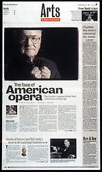Robert Ward won a pulitzer for his opera, 'The Crucible', which is being performed by Opera Carolina March 26-28. He recently celebrated his 80th birthday. L.MUELLER/The Charlotte Observer