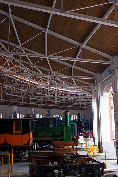 Museu del Ferrocarril de Catalunya Vilanova i la Geltrú. Railway museum in Vilanova i Geltru, Catalonia, Spain. Museo del Ferrocarril de Cataluña.