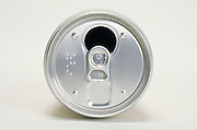 still life view of top of soda can