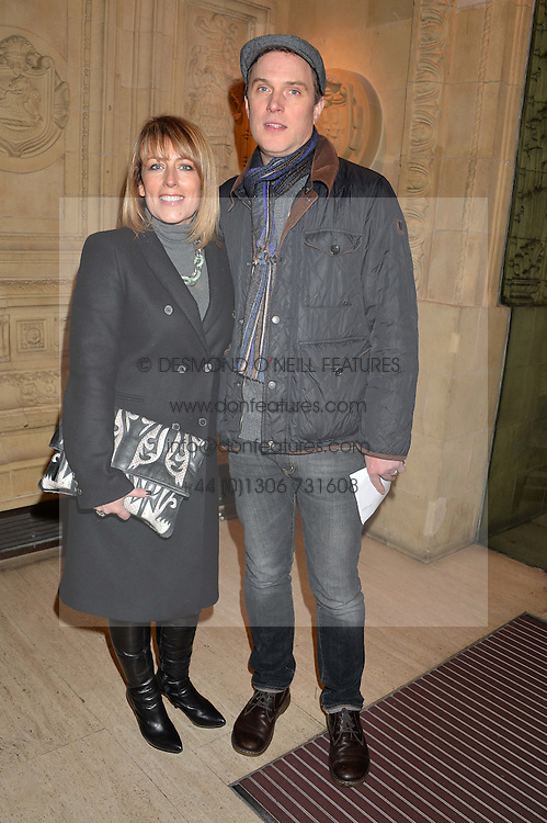 FAY RIPLEY and DANIEL LAPAINE at the opening night of Cirque du Soleil's award-winning production of Quidam at the Royal Albert Hall, London on 7th January 2014.