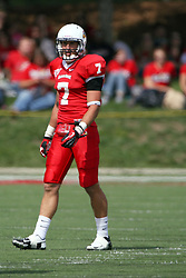 15 September 2012:  Ben Ericksen during an NCAA football game between the Eastern Illinois Panthers and the Illinois State Redbirds at Hancock Stadium in Normal IL