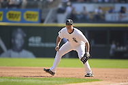 CHICAGO - SEPTEMBER 25:  Paul Konerko #14 of the Chicago White Sox fields against the Cleveland Indians on September 25, 2012 at U.S. Cellular Field in Chicago, Illinois.  The Indians defeated the White Sox 4-3.  (Photo by Ron Vesely)  Subject:  Paul Konerko