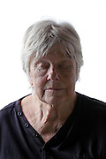 Senior woman with eyes closed