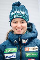 Nika Kriznar during press conference of Slovenian Nordic Ski team before new season 2017/18, on November 14, 2017 in Gorenje, Ljubljana - Crnuce, Slovenia. Photo by Vid Ponikvar / Sportida