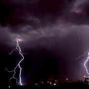 Lightning in El Paso Texas, August 14, 2017