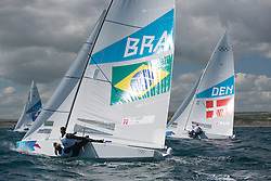2012 Olympic Games London / Weymouth<br /> <br /> Star practice race<br /> StarBRAScheidt Robert, Prada Bruno<br /> StarDENHESTBAEK Michael, Olesen Claus