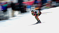 GATINEAU, March 01, 2016: Andreas Katz competes in the Men's 1.7km Sprint race during the Ski Tour Canada 2016 FIS Cross-Country World Cup at the Jacques Cartier Park in Gatineau, Quebec, Canada.