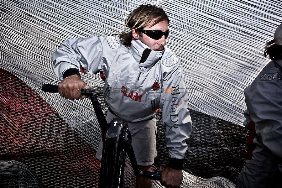 TP 52 MATADOR, APRIL THE 12TH,training for Hublot Palmavela in the bay of Palma..Boat captain Pedro Rossi