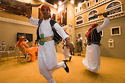 ITB (Internationale Tourismusbörse) 2005, World's largest tourism fair..Yemeni folk dancers.