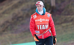 19.12.2015, Nordische Arena, Ramsau, AUT, FIS Weltcup Nordische Kombination, Langlauf, im Bild Cheftrainer Christoph Eugen (AUT) // Headcoach Christoph Eugen of Austria during Cross Country Competition of FIS Nordic Combined World Cup, at the Nordic Arena in Ramsau, Austria on 2015/12/19. EXPA Pictures © 2015, PhotoCredit: EXPA/ JFK