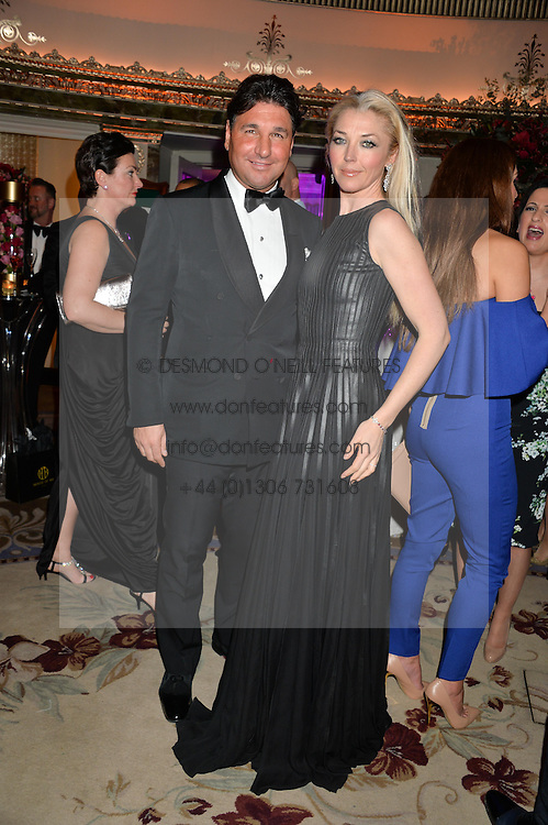 TAMARA BECKWITH and GIORGIO VERONI at a birthday dinner for Claire Caudwell for family & friends held at The Dorchester, Park Lane, London on 24th January 2014.