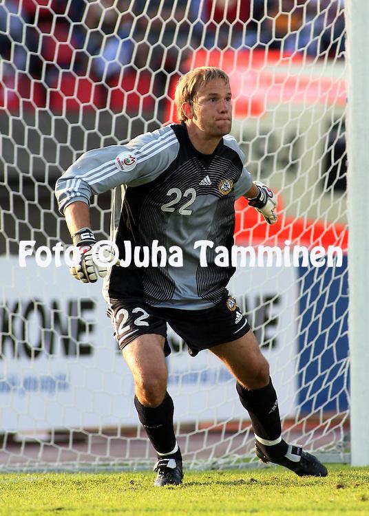 22.08.2007, Ratina Stadium, Tampere, Finland..UEFA European Championship 2008.Group A Qualifying Match Finland v Kazakhstan.Jussi J??skel?inen - Finland.©Juha Tamminen.....ARK:k