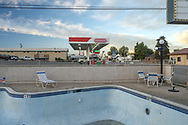 USA,Nevada, Humboldt County, Winnemucca, motel pool