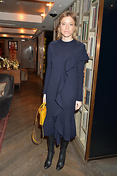 LONDON, ENGLAND 2 DECEMBER 2016: <br /> Johanna Dunn at a breakfast attended by a host of influencers, press and VIPs to celebrate the official launch of EVARAE the new British luxury resort wear brand, held at The Hari Hotel, 20 Chesham Place, London.  England. 2 December 2016.