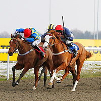 Valdez and Wayne Hutchinson winning the 2.05 race
