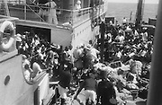 Cotton Pickers on Boat, Victoria Nile, Uganda, Africa, 1937