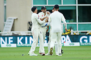 Alastair Cook of England takes a fantastic catch to get out Ajinkya Rahane of India during the 3rd International Test Match 2018 match between England and India at Trent Bridge, West Bridgford, United Kingdon on 18 August 2018.