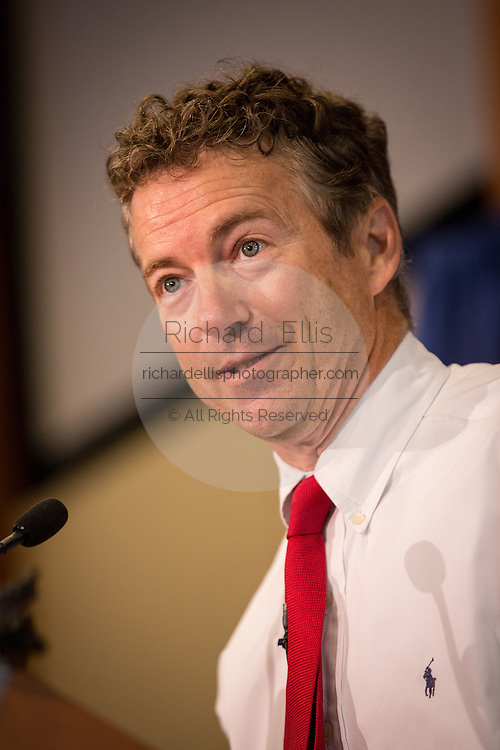 US Senator Rand Paul speaks at a Republican Party BBQ fundraiser on June 28, 2013 in Columbia, South Carolina. Paul, a Tea Party favorite, is planning to run for president in 2016.