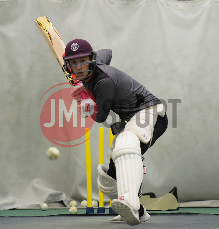 Somerset's Ryan Davies. - Mandatory byline: Alex Davidson/JMP - 25/02/2016 - CRICKET - The Cooper Associates County Ground -Taunton,England - Somerset CCC  Media access - Pre-Season