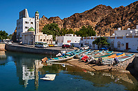 Sultanat d'Oman, Mascate, vieux Mascate, corniche de Mutrah // Sultanate of Oman, Muscat, the corniche of Muttrah, the old town of Muscat