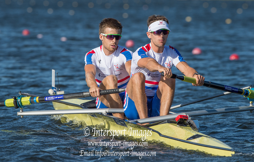 Rotterdam. Netherlands. GBR LM2- Bow.  Joel Cassells and Sam Scrimgeour. 2016 JWRC,  Non Olympic Regatta. {WRCH2016} at the Willem-Alexander Baan.   Monday  22/08/2016 <br /> <br /> [Mandatory Credit; Peter SPURRIER/Intersport Images]