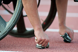 Behind the scenes, , 400m, T53, 2013 IPC Athletics World Championships, Lyon, France