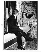 Prince Dmitri of Yugoslavia and Carla Bruni. Ball at the palazzo of Count Volpe. Venice. 1991. © Copyright Photograph by Dafydd Jones 66 Stockwell Park Rd. London SW9 0DA Tel 020 7733 0108 www.dafjones.com