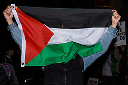 London, UK. 13th November, 2018. Students take part in a creative and non-violent Festival of Resistance organised in protest against a speech at King's College London (KCL) by the Israeli Ambassador to the UK Mark Regev, against the normalisation and legitimisation of Israel's oppression of the Palestinian people and against KCL's clampdown on student activism.