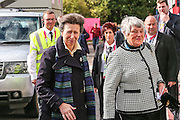 Princess Anne arrives for the Rugby World Cup Pool B match between Scotland and Japan at the Kingsholm Stadium, Gloucester, United Kingdom on 23 September 2015. Photo by Shane Healey.