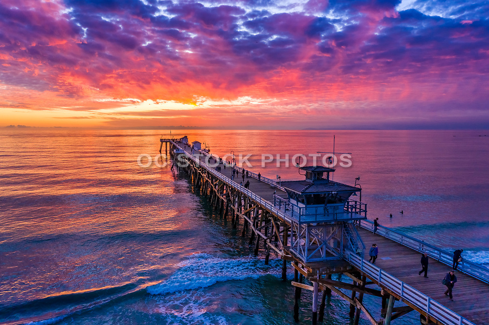 Aerial View of San Clemente Pier