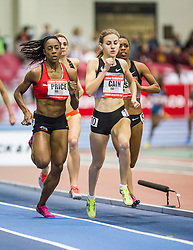 New Balance Indoor Grand Prix track & field, Mary Cain runs to victory in womens 1000 meters sets world junior record
