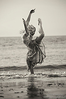 Dance As Art The New York City Photography Project Black and White Coney Island Ocean Series with Mykaila Symes