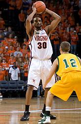 Virginia Cavaliers F Adrian Joseph (30)..The Virginia Cavaliers men's basketball team defeated the Vermont Catamounts 90-72 at the John Paul Jones Arena in Charlottesville, VA on November 11, 2007.