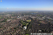 aerial photograph of Wigan  Lancashire UK
