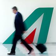 2013/07/03 Roma, presentazione del piano industriale Alitalia 2013 - 2016. Nella foto il logo della compagnia aerea.<br /> Rome, presentation of Alitalia industrial plan 2013 - 2016. In the picture air company logo - &copy; PIERPAOLO SCAVUZZO