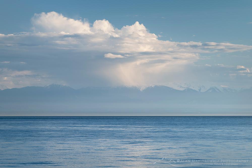 Olympic Mountains across Strait of Juan De Fuca, seen from San Juan Island Washington