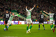 Huge appeal for a penalty as Celtic appeal  to the referee  during the Europa League match between Celtic and FC Copenhagen at Celtic Park, Glasgow, Scotland on 27 February 2020.