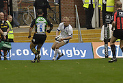 Northampton, GREAT BRITAIN, Baths Michael STEPHENSON, touches down in the corner, Northampton Saints vs Bath Rugby, in the Guinness Premiership Rugby match, at  Franklin's Gardens, Northampton, ENGLAND on 16/09/2006 [Photo, Peter Spurrier/Intersport-images].