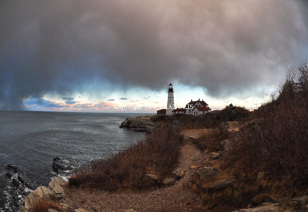 Snow Squall, Portland Head Lighthouse, Portland Maine