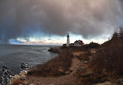 Snow Squall, Portland Head Lighthouse, Portland Maine