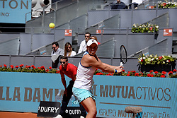 May 9, 2019 - Madrid, Spain - Ashleigh Barty (Australian) in her match against Simona Halep (ROM) during day six of the Mutua Madrid Open at La Caja Magica in Madrid on 9th May, 2019. (Credit Image: © Juan Carlos Lucas/NurPhoto via ZUMA Press)