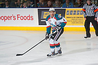 KELOWNA, CANADA - JANUARY 23: Madison Bowey #4 of Kelowna Rockets skates against the Everett Silvertips on January 23, 2015 at Prospera Place in Kelowna, British Columbia, Canada.  (Photo by Marissa Baecker/Shoot the Breeze)  *** Local Caption *** Madison Bowey;