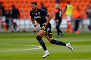 Wimbledon forward Jake Jervis (10), on loan from Luton Town, warming up  during the EFL Sky Bet League 1 match between Blackpool and AFC Wimbledon at Bloomfield Road, Blackpool, England on 20 October 2018.