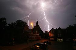 Schwere Gewitter über dem Niederrhein, hier schlägt der Blitz in der Nähe der Ortschaft Haldern, Stadt Rees, Kreis Kleve ein . EXPA Pictures © 2011, PhotoCredit: EXPA/ nph/  Herbst       ****** out of GER / CRO  / BEL ******