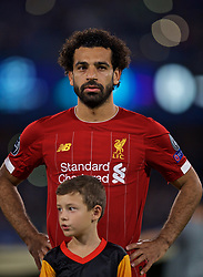 NAPLES, ITALY - Tuesday, September 17, 2019: Liverpool's Mohamed Salah lines-up before the UEFA Champions League Group E match between SSC Napoli and Liverpool FC at the Studio San Paolo. (Pic by David Rawcliffe/Propaganda)