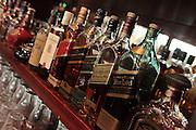 Interior of an Irish style pub Whiskey bottles
