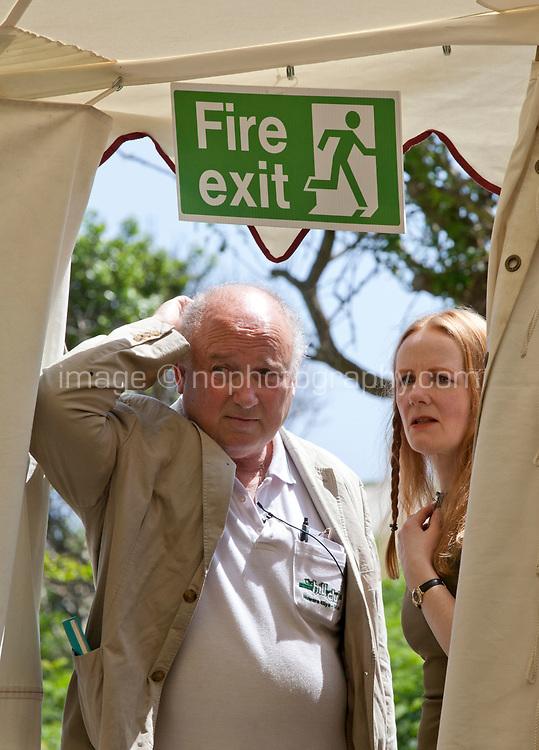 Louis de Bernieres and Martina Devlin at the Dalkey Book Festival, Dalkey, County Dublin, Ireland, Sunday 18th June 2017. Photo credit: Doreen Kennedy